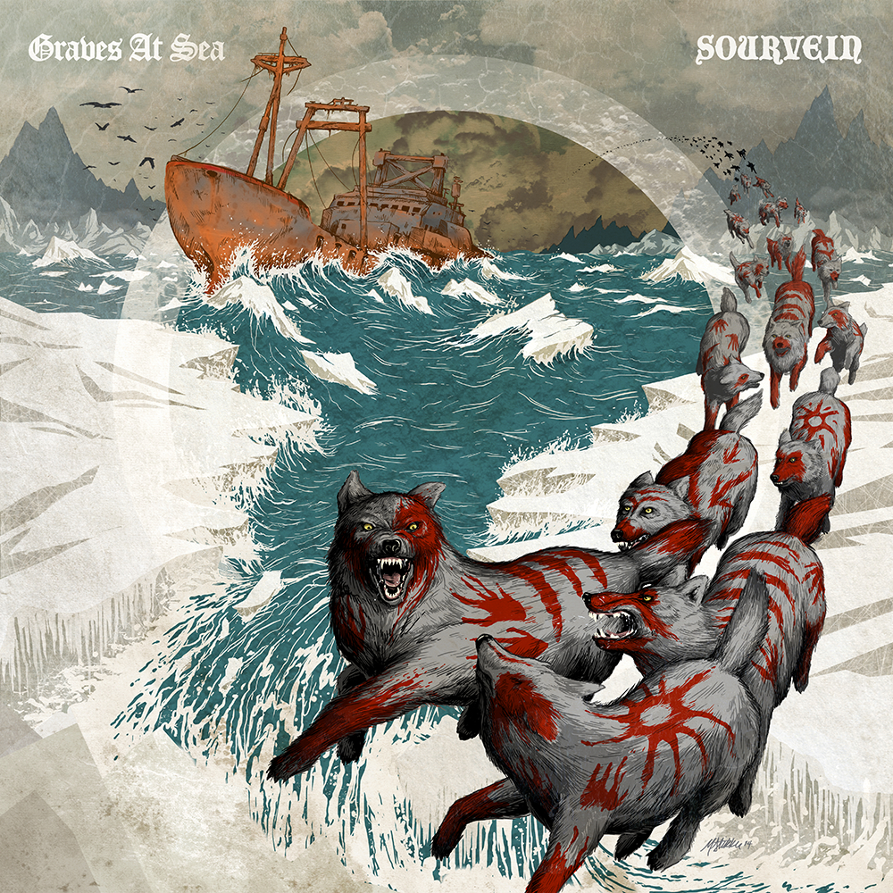 Graves At Sea - Sourvein - split